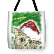Santa Cat Tote Bag
