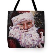 Santa Chat Tote Bag
