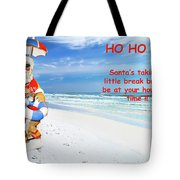 Santa Christmas Greeting Card Tote Bag