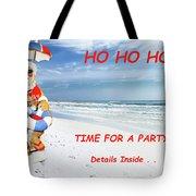 Santa Christmas Party Invitation Tote Bag