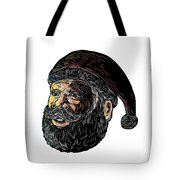 Santa Claus Three-quarter View Scratchboard Tote Bag