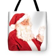 Santa Claus Waving Hand Tote Bag