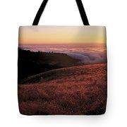 Santa Cruz Mountains At Sunset Ca Usa Tote Bag