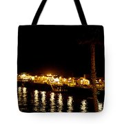 Santa Cruz Pier At Night Tote Bag