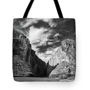 Santa Elena Canyon Black And White Tote Bag
