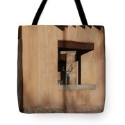Santa Fe Adobe Window Tote Bag