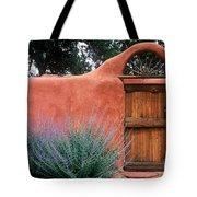 Santa Fe Gate No. 2 - Rustic Adobe Antique Door Home Country  Tote Bag