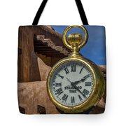 Santa Fe Plaza Clock Tote Bag