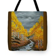 Santa Fe River Aspens Tote Bag
