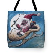 Santa Hog Tote Bag
