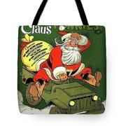 Santa In A Hurry Tote Bag
