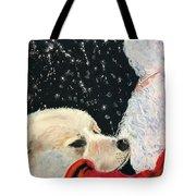 Santa Loves Dogs Tote Bag