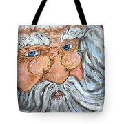 Santa - Merry Christmas Art Tote Bag