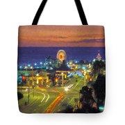 Santa Monica Ca  Pacific Park Pier Tote Bag