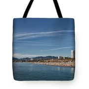 Santa Monica From Pier Tote Bag