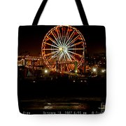 Santa Monica Pier October 18 2007  Tote Bag