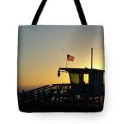 Santa Monica Sunset Tote Bag