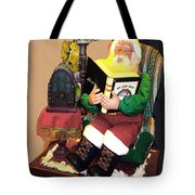 Santa Reads A Story To The Children Tote Bag