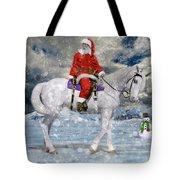 Santa Rides To Town Tote Bag