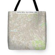 Santa Rosa California Us City Street Map Tote Bag