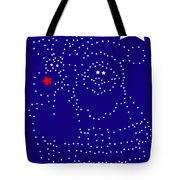 Santa Rudolph Stars Blue 2 Tote Bag