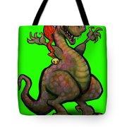 Santa Saurus Rex Tote Bag