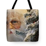 Santa Sees You Tote Bag