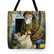 Santa Unpacks His Bag Of Toys On Christmas Eve Tote Bag