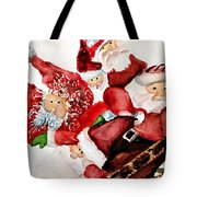 Santas Tote Bag by Dana Patterson