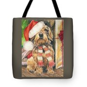 Santas Little Yelper Tote Bag
