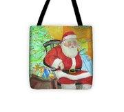 Santas Secret Tote Bag
