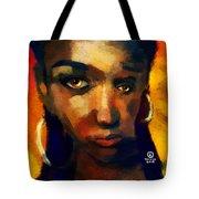 Santia In Orange 726 Tote Bag