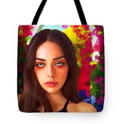 Santia Is Crying 659 Tote Bag