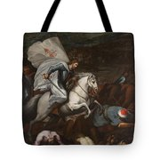 Santiago At The Battle Of Clavijo Tote Bag