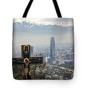 Santiago Chile Panoramic Tote Bag