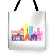 Santiago De Cali Skyline Pop Tote Bag
