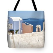 Santorini Blue House In Oia Tote Bag