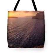 Santorini Caldera Sunset Tote Bag