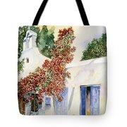 Santorini Door Tote Bag