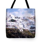 Santorini Hillside 2 Tote Bag