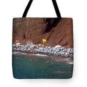 Santorini Red Beach   Tote Bag