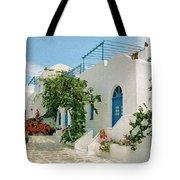 Santorini Villa Tote Bag