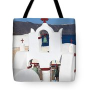 Santorini White Tote Bag