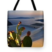 Santorini.fira Sunset Tote Bag
