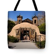 Santuario De Chimayo Adobe Chapel Tote Bag