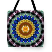 Sapphire Necklace Mandala Tote Bag