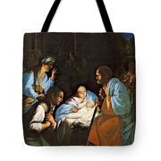 Saraceni Carlo The Birth Of Christ Tote Bag