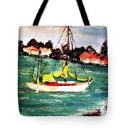 Sarasota Bay Sailboat Tote Bag