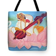 Saraswati Tote Bag by Shruti Prasad