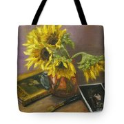 Sargent And Sunflowers Tote Bag